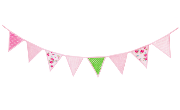 decoracion infantil - banderines de tela