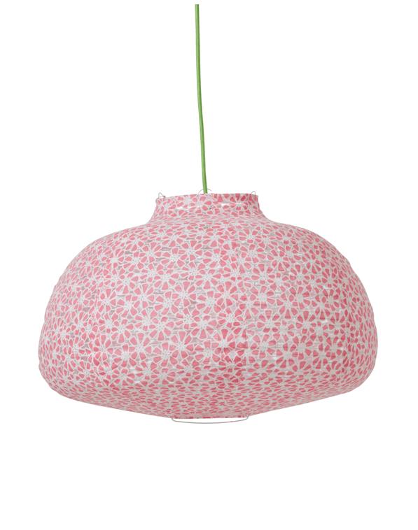decoracion infantil - lampara de tela