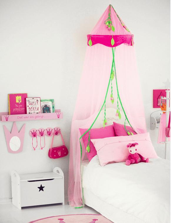 decoracion infantil - velo para cama de princesas