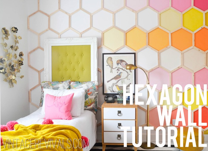 DIY: decoración de pared original en forma de hexágono