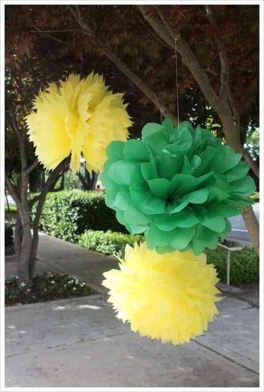 decorar con flores de papel