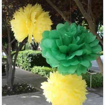 DIY Decorar con flores de papel tus exteriores