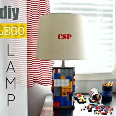 DIY: Decorar una lámpara con piezas de LEGO