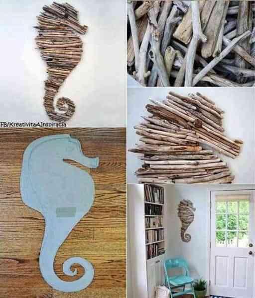 decorar el dormitorio con caballo de mar