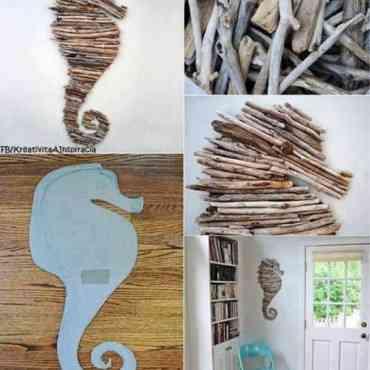 Idea para decorar el dormitorio con pequeñas ramas