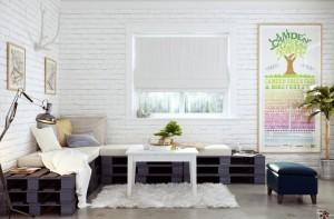 salon decorado con palets