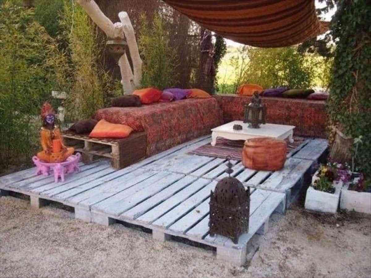 Harto del piso p sate al suelo de palets para exterior for Suelos para porches