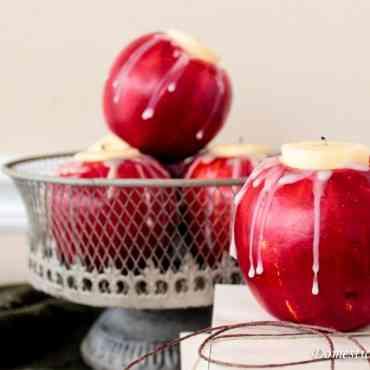 DIY: Portavelas hechos con manzanas