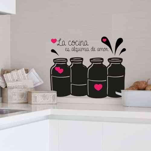 Ejemplos de decoraci n de paredes divertidas con vinilos - Pegatinas para cocina ...