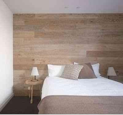 Decoracion de paredes con madera reforma bao moderno en for Decoracion en madera para pared