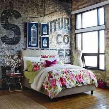 Decoración dormitorio de inspiración industrial