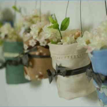 Cómo tapizar botellas recicladas con tela