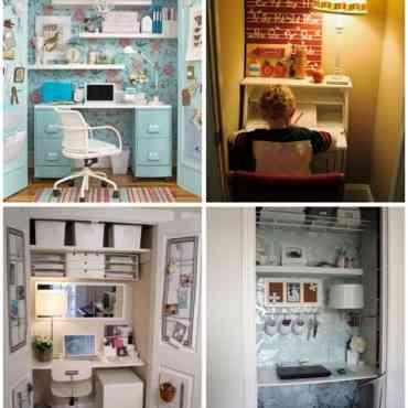 ¡Sorpresa! Pequeño espacio de trabajo dentro de un armario