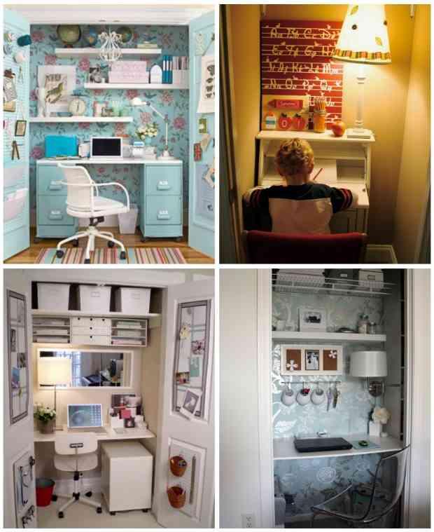Sorpresa peque o espacio de trabajo dentro de un armario - Espacios de trabajo ikea ...