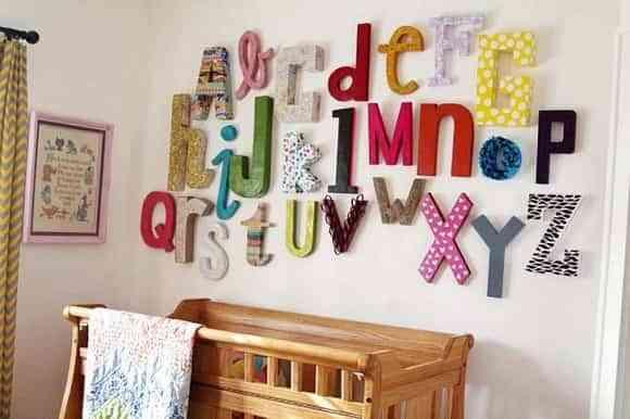 Letras en las paredes