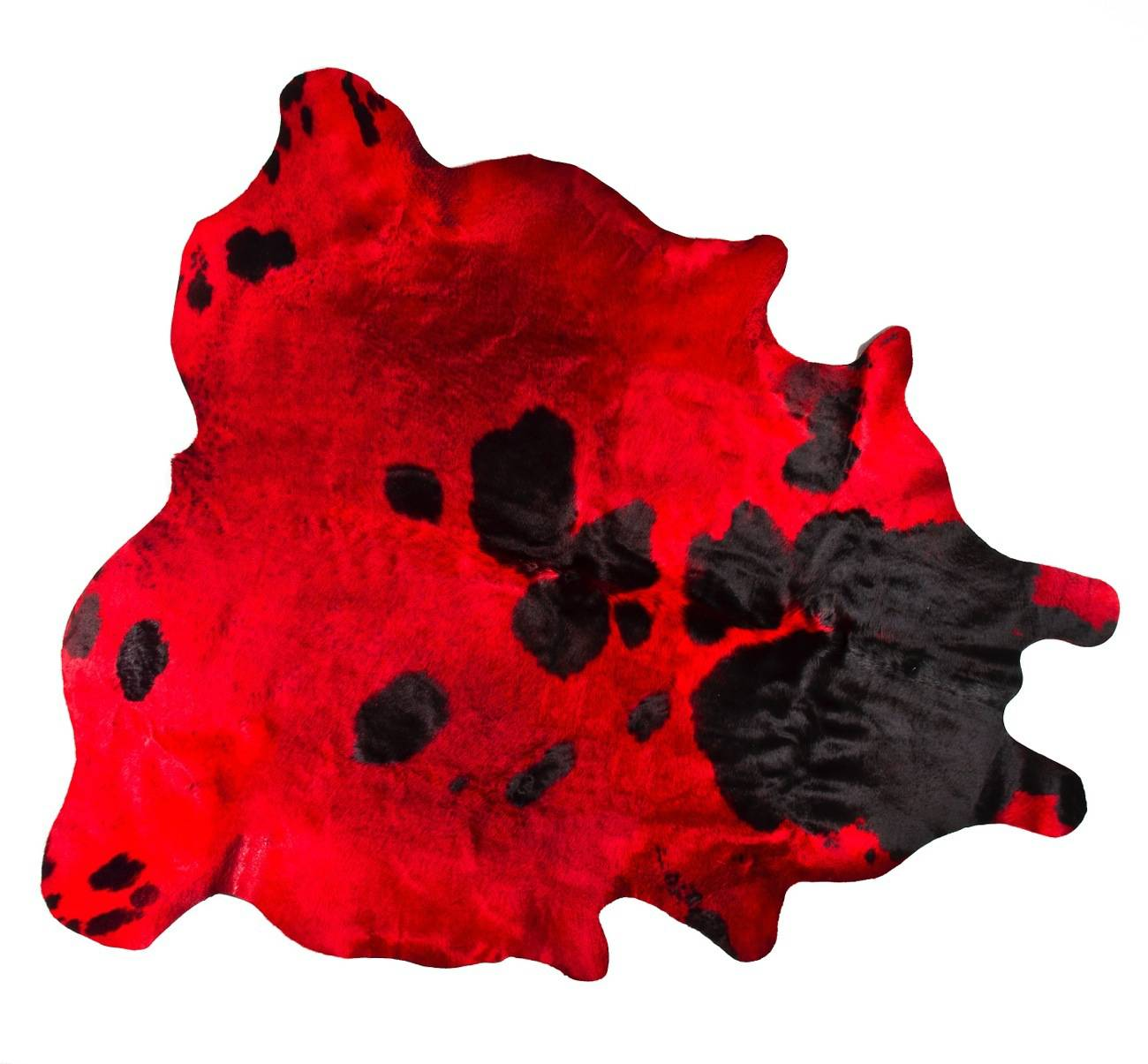 ALFOMBRA - Octubre 2014 -  vaca rojo manchas negras