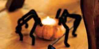 decoracion de halloween portavelas de calabaza