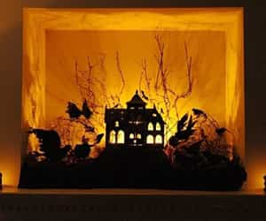 decoracion para halloween con cartulina