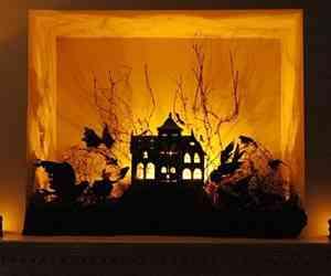 decoracion para halloween con cartulina