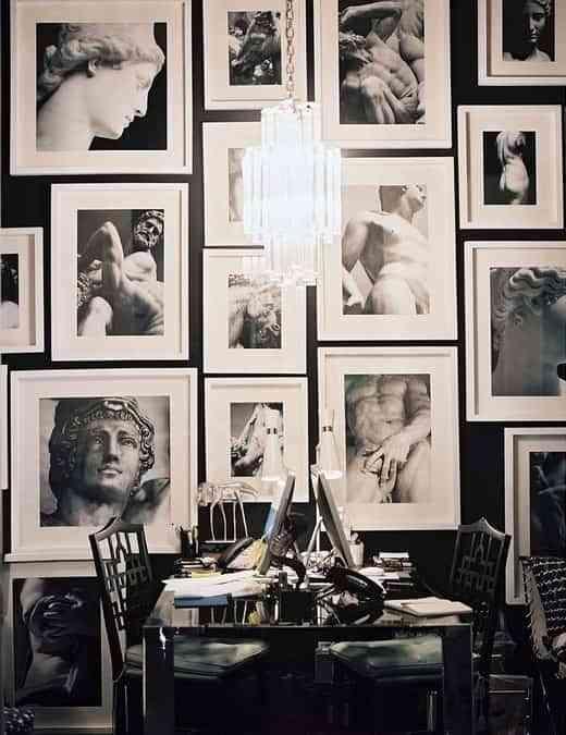 decorar paredes estilo galería
