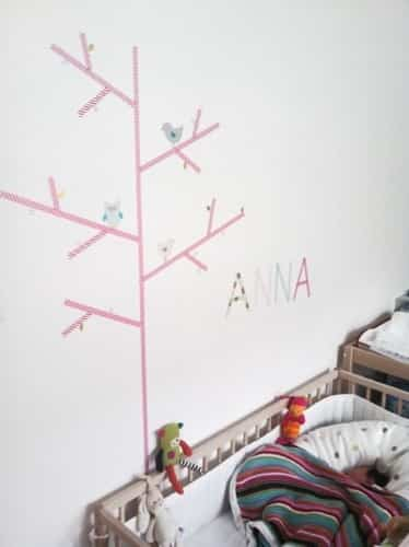 decorar paredes con washi tape
