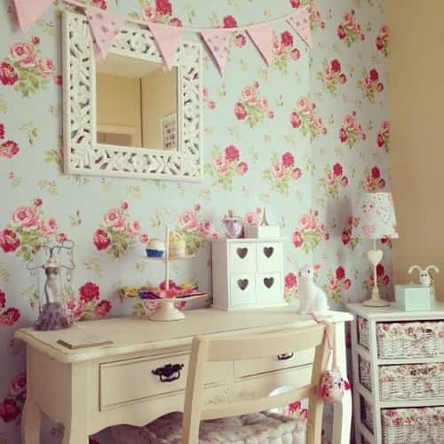 decorar paredes shabby chic