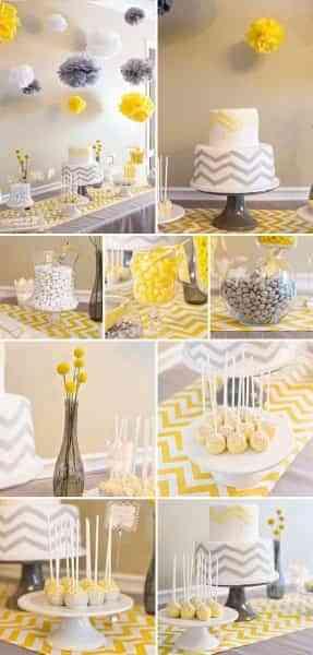decorar baby shower bicolor