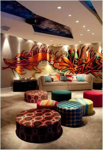 decorar paredes con graffitis