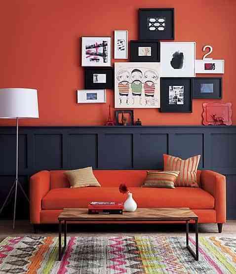 decorar habitaciones bicolor