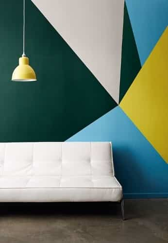 decorar paredes con detalles geométricos