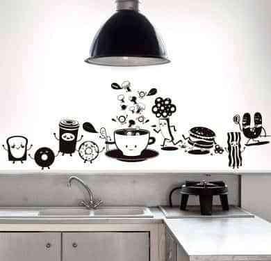 Decorar paredes de cocina con vinilos - Decoración de Interiores ...