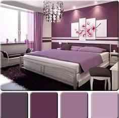 decorar paredes en color púrpura
