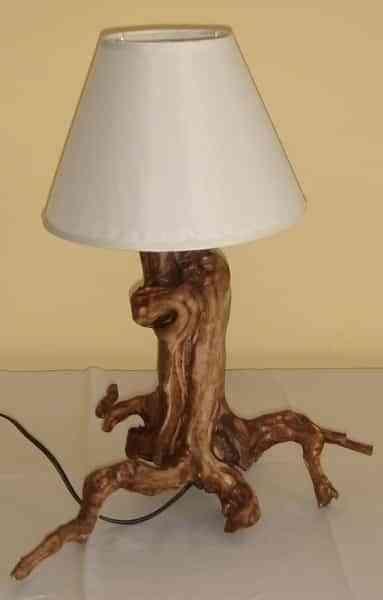 lamparas originales y creativas - tronco de arbol