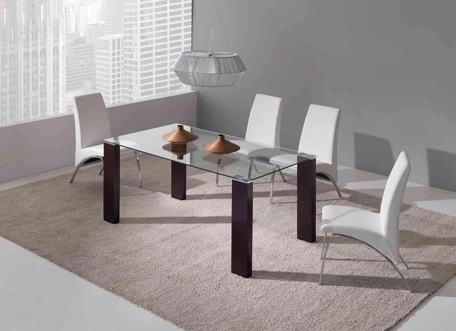 Ideas de mesas para el sal n comedor de estilo moderno - Decoracion de mesas de salon comedor ...