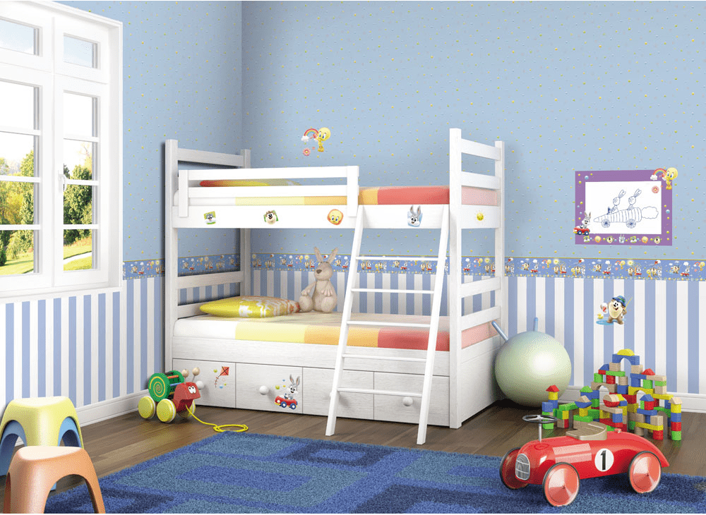 Papel pintado infantil para habitaciones de ni os - Habitaciones de ninos pintadas ...