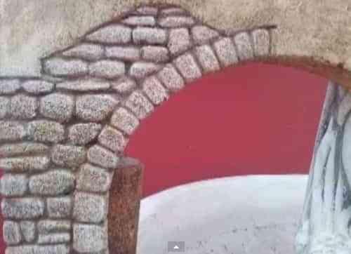 arco de piedra para decorar paredes