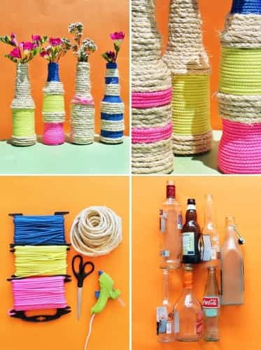 botellas decoradas recicladas