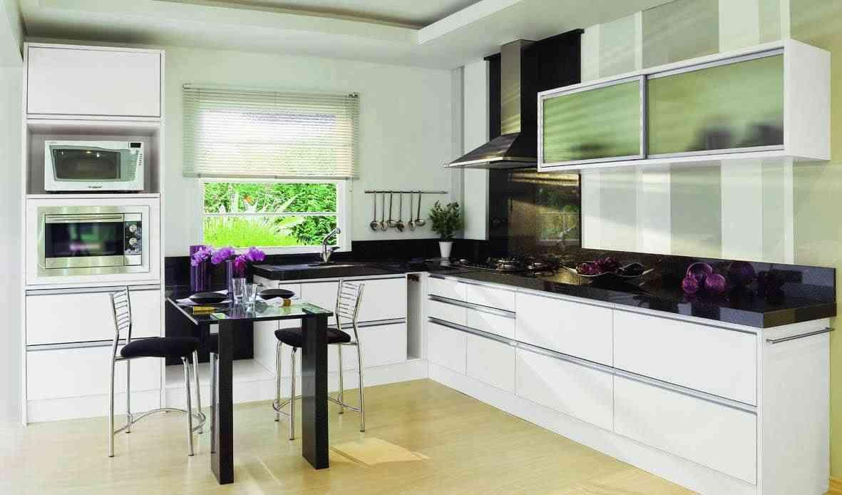 Decoración de la cocina en blanco