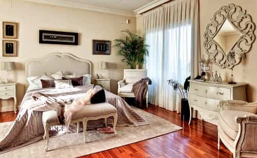 Decorar dormitorios en estilo provenzal - Pintura color vison ...