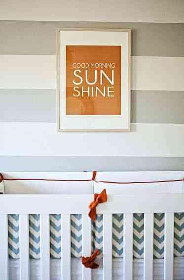 dormitorio infantil con rayas