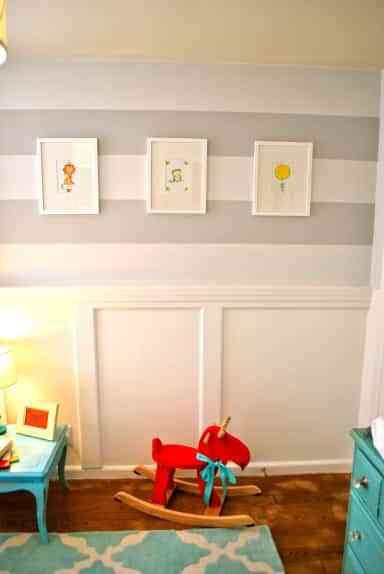 decoración infantil con rayas