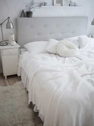 decorar dormitorio minimalista blanco