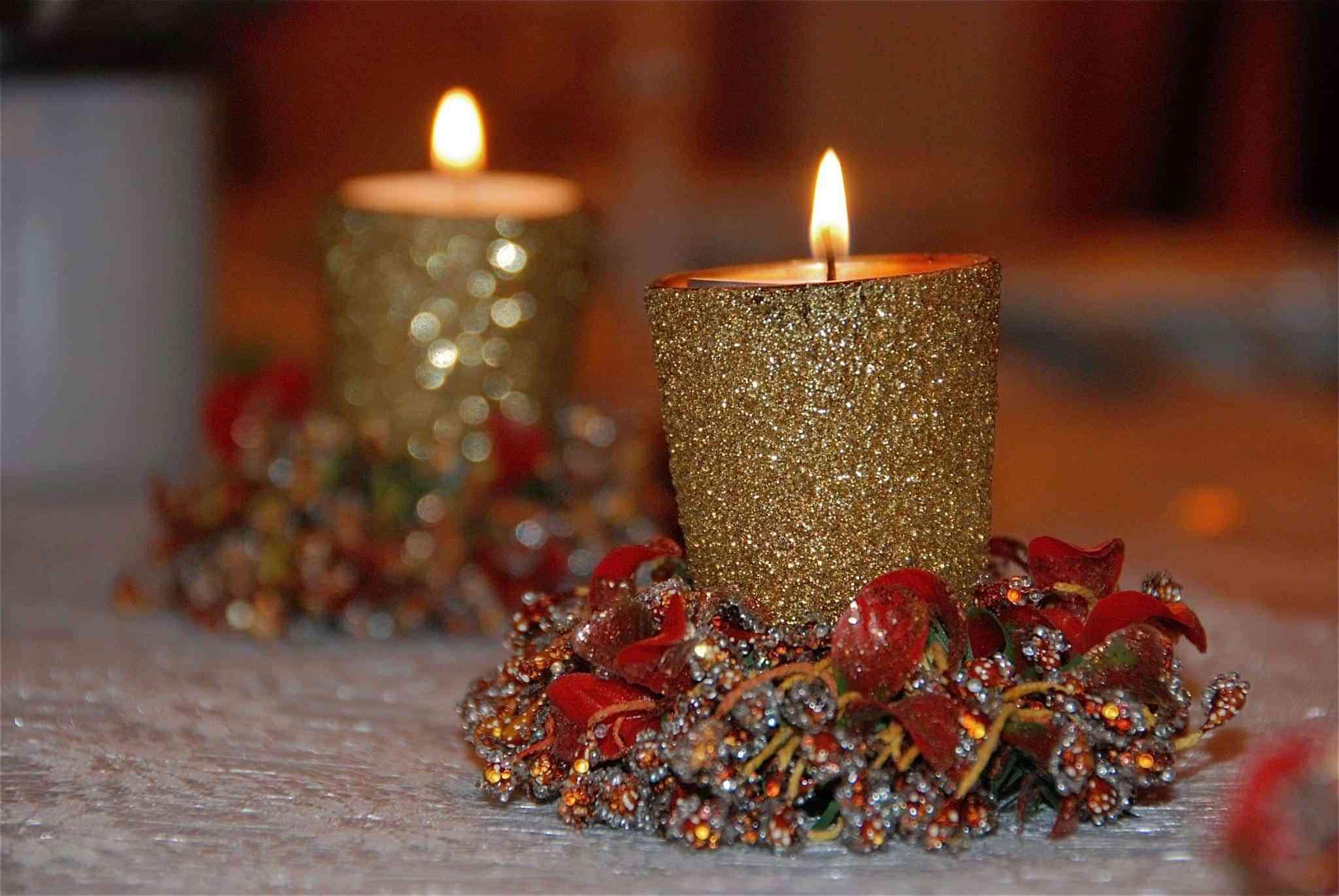 Decorar Las Velas Con Purpurina - Como-decorar-una-vela