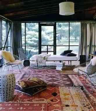 Decoracin de dormitorio en estilo tnico