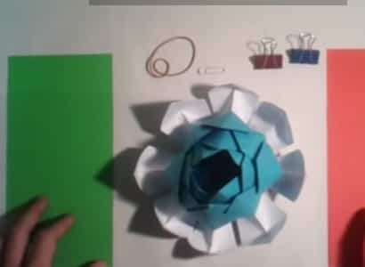flor de loto en origami