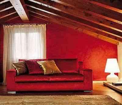 pintar paredes con rojo