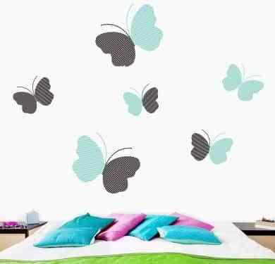 Decorar habitaciones con vinilos de mariposas