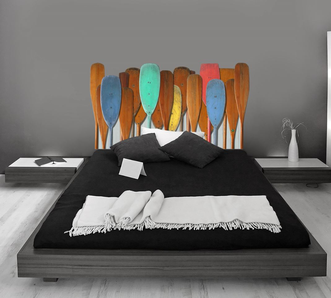 Cabeceros de cama con vinilos de pared - Cabecero de cama segunda mano ...