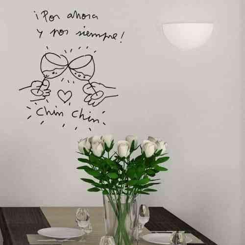 Vinilos para decorar paredes del comedor con estilo