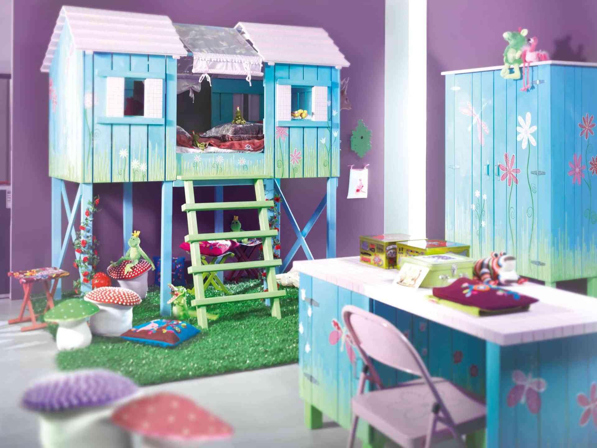 dormitorio azul nena